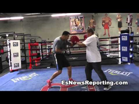 Brandon Rios Gets Ready For Manny Pacquiao Hitting Hard - EsNews Boxing