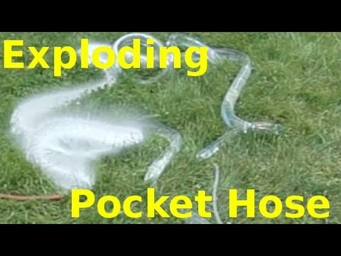 Exploding Pocket Hose - Slow Motion