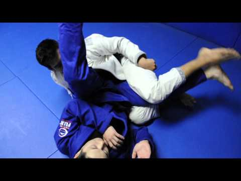 DEEP HALF GUARD: Sweep #2 to Leg Drag. Image 1