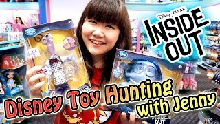 Disney Store Toy Hunting with Jenny - New Disney Pixar Movie Inside Out!!