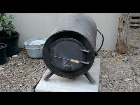 Wood Fired Hot Water Heater