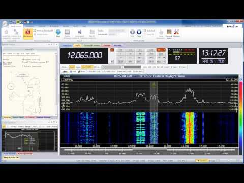 Shortwave SDR Radio Demo / Tuning Around 2013-04-08 1313 UTC