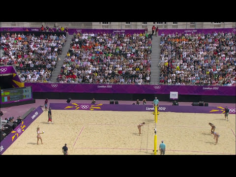 Women's Beach Volleyball Round of 16 - ESP v ITA | London 2012 Olympics