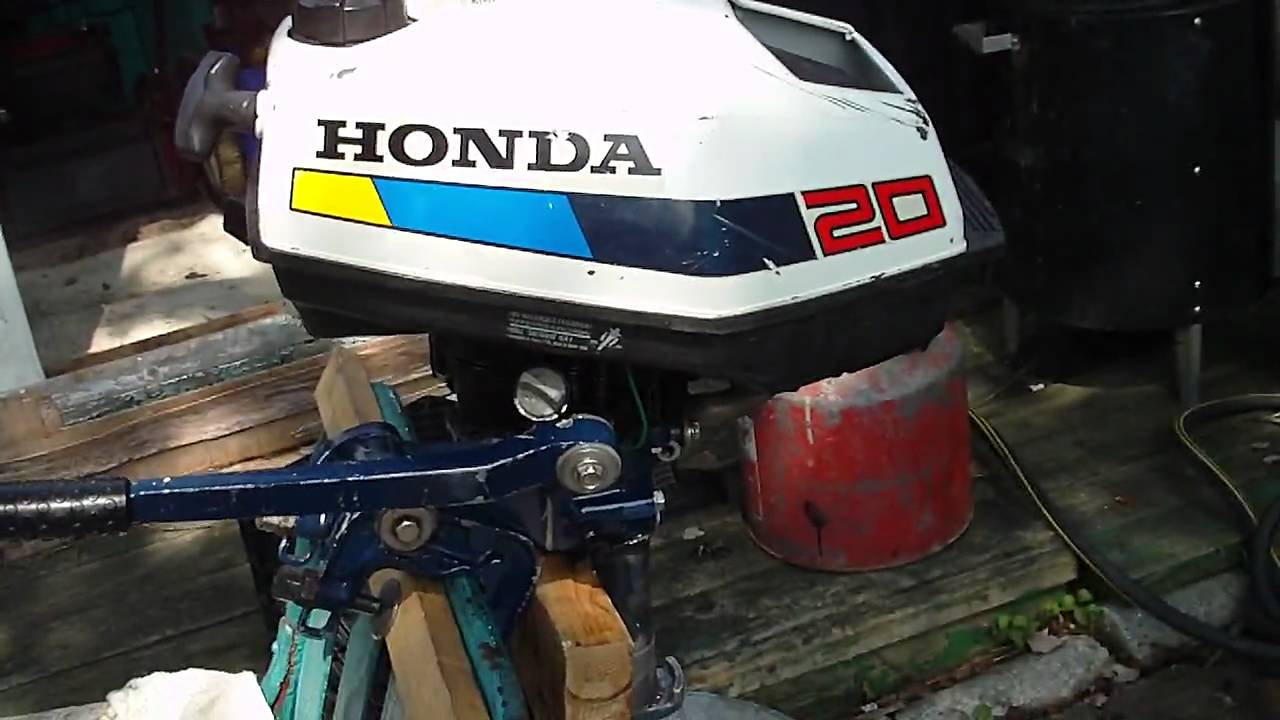 Honda Bf20 2hp Boat Motor Pt2 Youtube