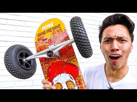 INFLATABLE SKATEBOARD WHEELS!!  World's WIDEST Trucks!