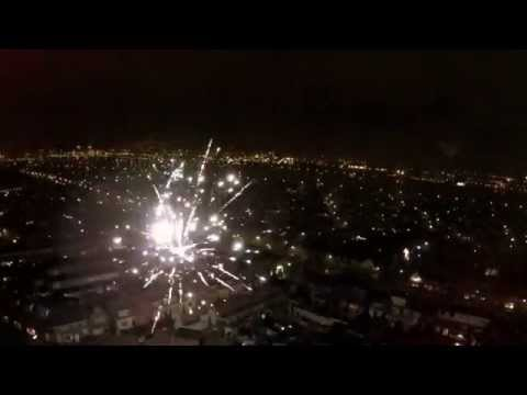 Happy New Year - IJmuiden #LiveDRONE #FireWorks