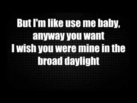 Chris Brown - Fine By Me (lyrics video)