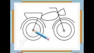 BÉ HỌA SĨ - Thực hành tập vẽ 242: Vẽ xe máy