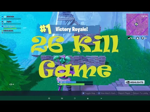 26 KILLS SQUAD GAME FORTNITE