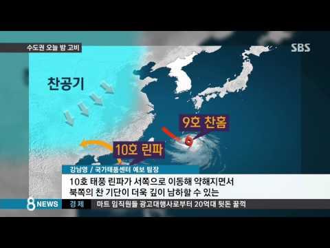 [사회] 갑자기 경로 바꾼 태풍…오늘 밤 '최대 고비' (SBS8뉴스|2015.07.12)
