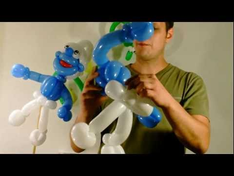 Ballon balloon, Schlumpf smurf, Modellierballon Ballonfiguren Part 1/2 Comic Kartoon