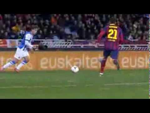Barcelona vs real sociedad 1-3 Highlights  22-3-2014