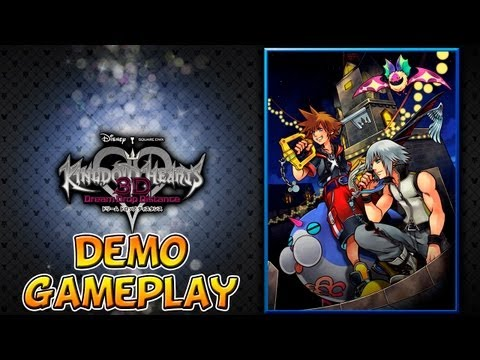 Kingdom Hearts 3D: Dream Drop Distance DEMO Gameplay