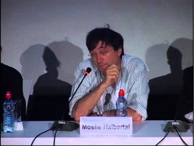Professor Moshe Halbertal at Facing Tomorrow 2011