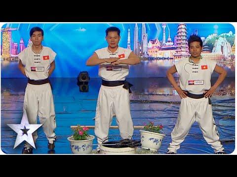 Màn biểu diễn kinh điển của Việt Nam gây sốt tại Asia's Got Talent :O Đến BGK còn đau cả tim :((