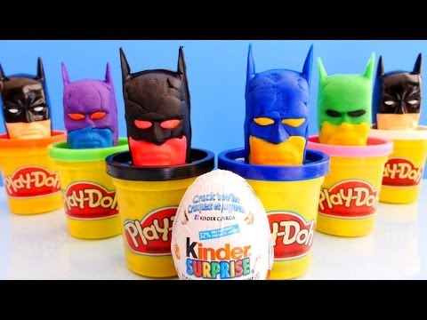 How To Make Kinder Surprise Play Doh Super Hero Eggs Like Batman Play Dough Do It Yourself Toy Eggs