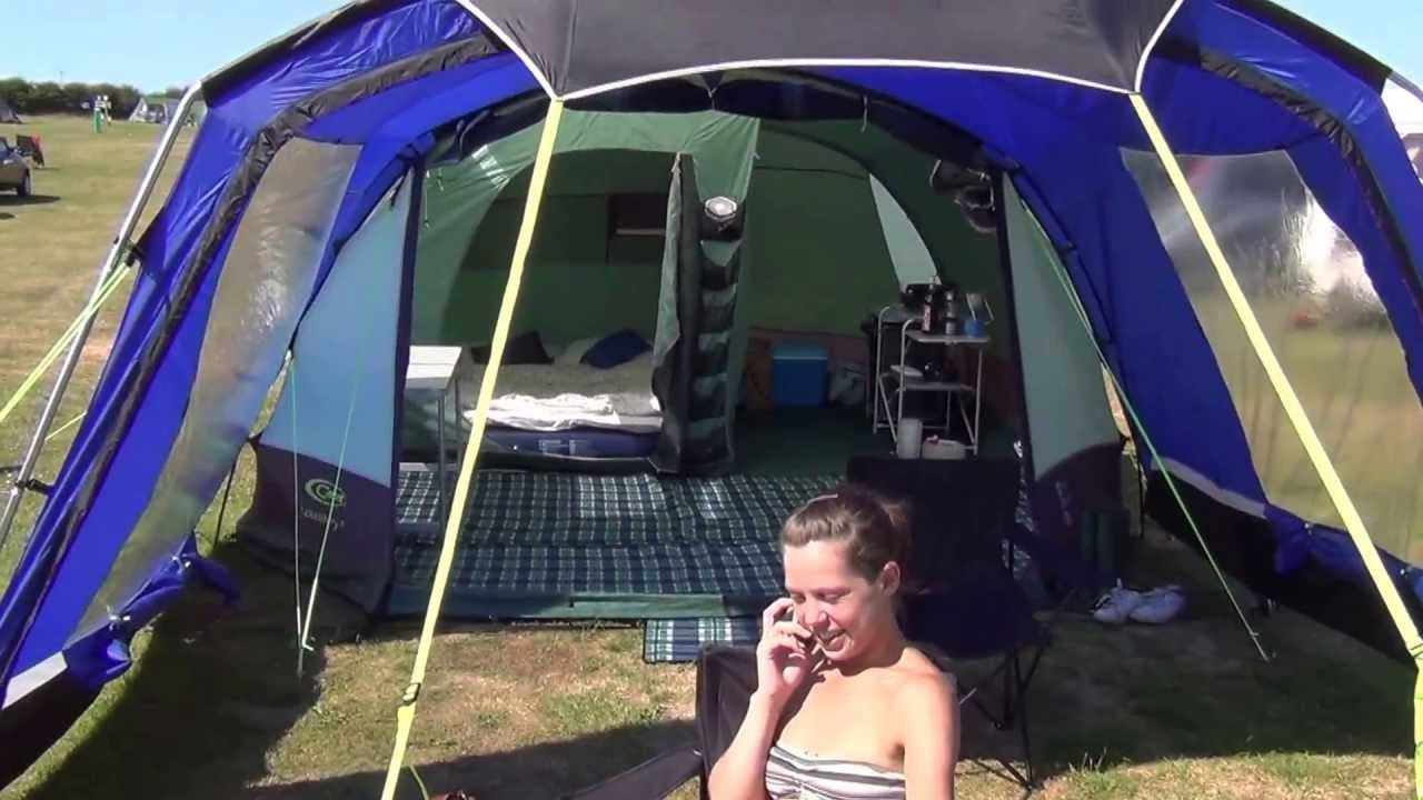 Gelert Lakesbury 5 With Mojave 5 Porch Attached Youtube