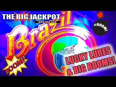 🐟 Lucky Lures & 💲BIG BOOMS💲 on Brazil Bonus Round! 💣