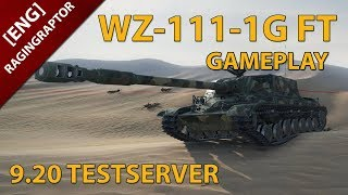 [ENG]World of Tanks: WZ-111-1G FT GAMEPLAY, NEW CHINESE T8 TANK DESTROYER