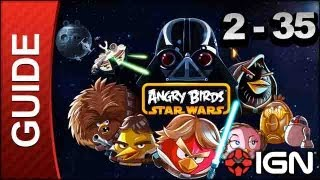 Angry Bids Star Wars_ Death Star Level 2-35 3 Star Walkthrough