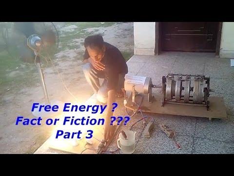 Free Energy - Fact Or Fiction - Part 3 - Wasif Kahloon Selfrunning Motor Generator ?
