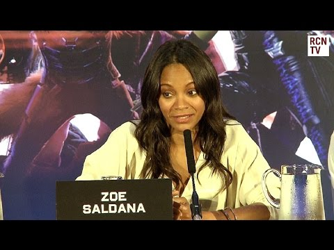 Zoe Saldana Interview - Sexy Gamora - Guardians of the Galaxy Premiere