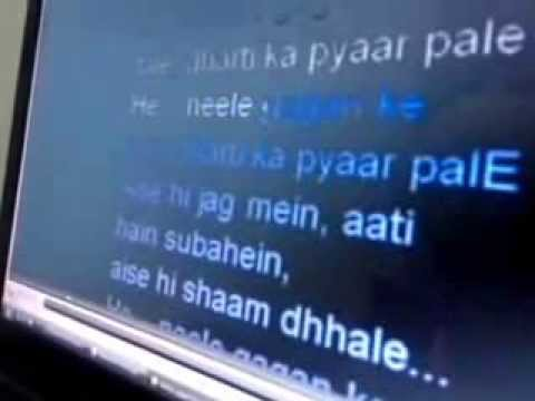 Nile gagan ke tale dharti ka pyar pale karaoke singing by dr...