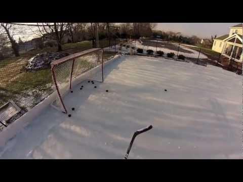Backyard Ice Hockey Rink 2013