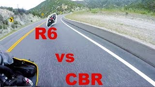 600cc CANYON BATTLE (Honda CBR600RR vs Yamaha R6)