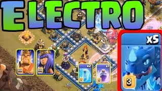 Electro Dragon Lavalloon Attack Town Hall 12 War Base || War TH 12 COMBO Lava Electro