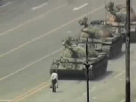 TANK MAN the day after TIANANMEN SQUARE MASSACRE