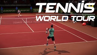 Tennis World Tour - Roger Federer vs Angelique Kerber - PS4 Gameplay