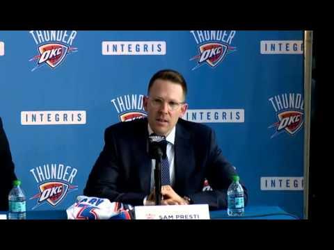Oklahoma City Thunder Introduce Mitch McGary and Josh Huestis
