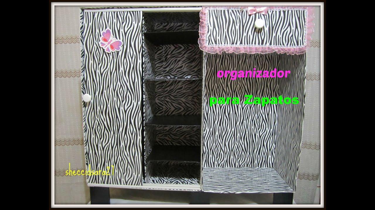 Mueble organizador para zapatos hecho de cart n youtube - Organizador de zapatos ...