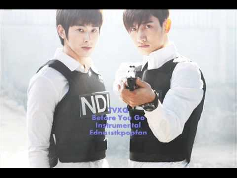 TVXQ - Before You Go (Instrumental) NO BACKGROUND VOCALS + LYRICS!!