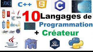 Top 10 Programming Languages And Their Inventors | FK Keita ©