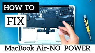 "DIY Repair Liquid Damage A1466 MacBook Air 13"" Logic Board - No Power Efi Chip"