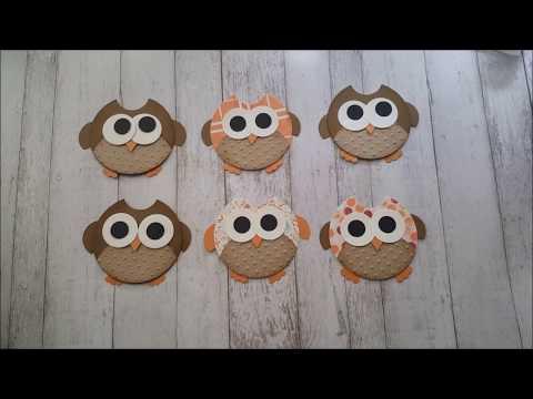 Handmade Embellishments!!! Super Cute Owls w/ Diemond Dies Tut by Rosa Gomez