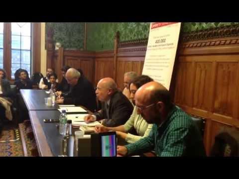 Ismail besikci speaking at Westminster Debate organised by Centre for Turkey Studies in Parliament