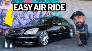 Stock to Slammed: Instant VIP! Daily Driven Lexus LS430 Gets Dropped on Air Ride