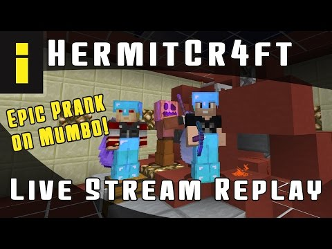 Hermitcraft Live Stream Replay (12/2/2016) - Epic Prank on Mumbo!