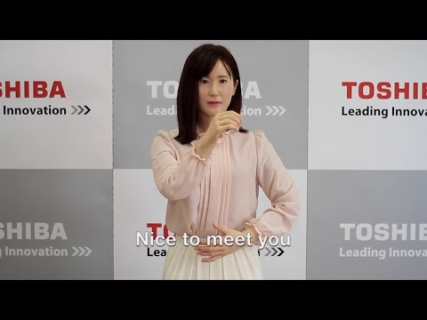 【Toshiba】Toshiba Corporation Develops Lifelike Communication Android/【東芝】人間型のコミュニケーションロボット