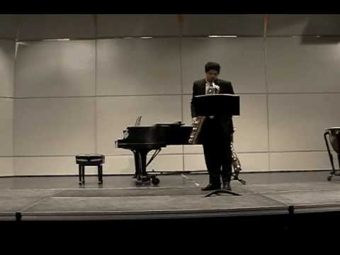 Rob Righthand performs Undercurrent for Baritone saxophone by Newell H Long at Ridgewood High School at Maroon and White concert on May 20, 2011
