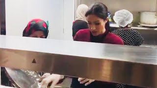 Meghan Cooks During LOW KEY Visit To Grenfell Hubb Community Kitchen!