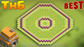 Download Clash of Clans Town Hall 6 Defense (CoC TH6) BEST Hybrid / Trophy Base Layout 2017 3Gp Mp4
