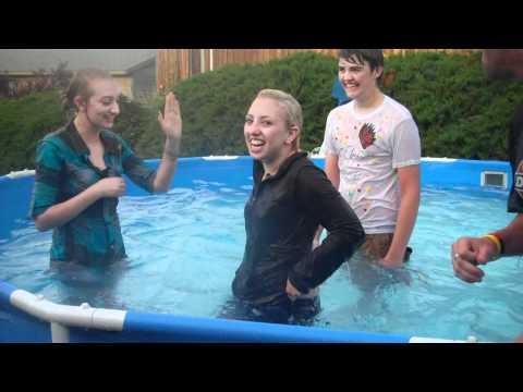 Saidie thrown In Pool