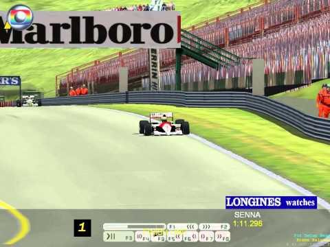 Grand Prix 4 - MOD 1991 - Ayrton Senna com a McLaren fazendo a Pole position - Treino qualificatório no GP da Hungria Nivel de dificuldade ACE Todas as Ajuda...