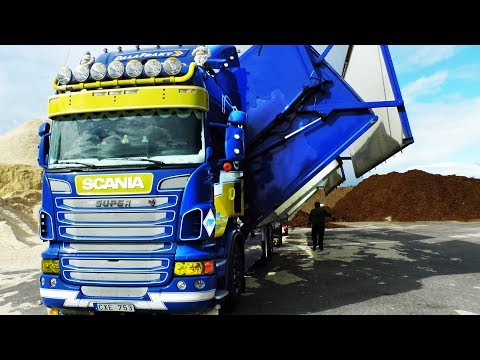 Scania Wood Chip Truck, Sweden