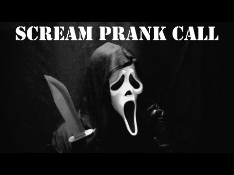 Scream Prank Call, Ghostface Phone Trolling! Amazing Voice! video