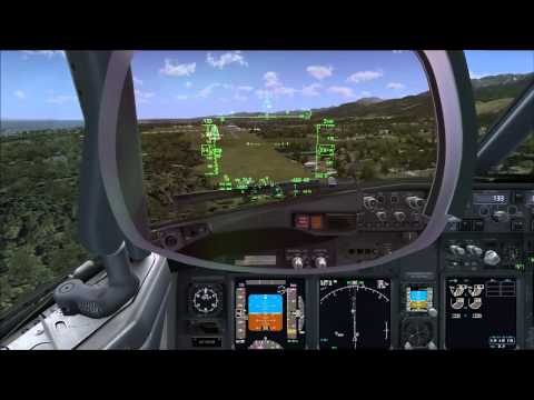 PMDG 737 NGX Preview - Day VFR 25knot Crosswind Short Field Landing Package at KCLM